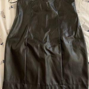 Fashion Nova Carlibell Faux Leather Skirt Black